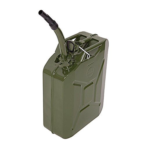 CHOCITY Steel Gasoline Safety Can with Funnel, 5 Gallon Capacity Storage Can Army Green