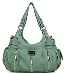 The Scarleton 3 Front Zipper Washed Shoulder Bag is a large stylish purse at a great price. This chic design has plenty of organized storage, enough room for your cell phone, wallet and makeup with space for virtually any standard tablet. The...