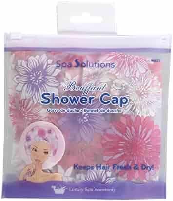 Cala Floral pink bouffant shower cap