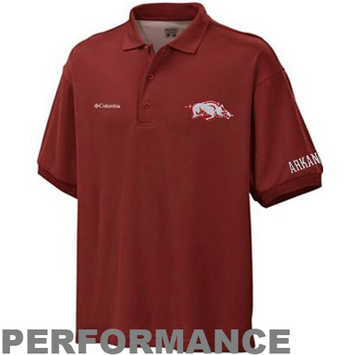 Cast Mens T-shirt - NCAA Arkansas Razorbacks Men's Collegiate Perfect Cast Polo T-Shirt, Beet, X-Large