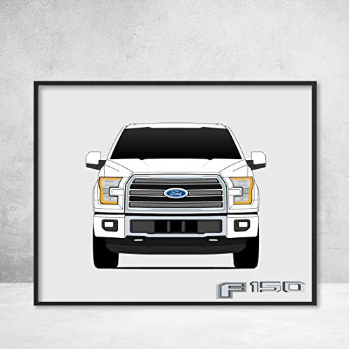 Ford F-150 F Series Pickup Truck 2016-2018 Poster Print Wall Art Decor Handmade