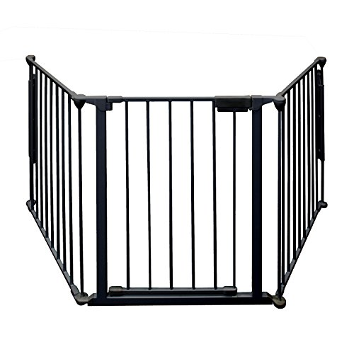 ALEKO SG03BK Fireplace Fire Gate Safety Fence Cover Child Safety Gate, 77 Inches Black by ALEKO