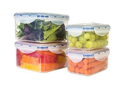 Storefresh Food Containers 8 Piece Set Plastic