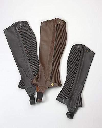 (Ovation - Child Pro Top Grain Leather Half Chaps , Black/Black , A 8-10)
