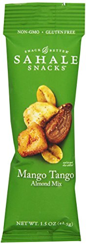 Sahale Snacks Grab   Go Mango Tango Almond Mix  Gluten Free Snack  1 5 Ounce Pouch  Pack Of 18