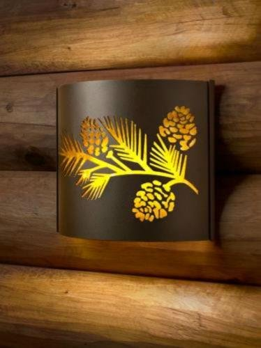 Decorative Indoor Wildlife Sconces (Pine bough/right)