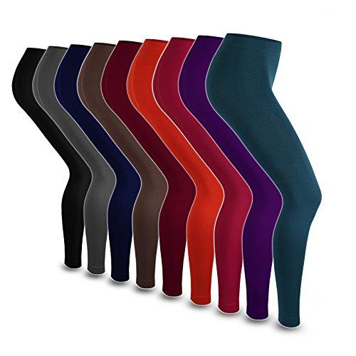 Leggings térmicos super cálidos, opacos, de forro polar Purple - Magenta