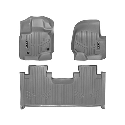 MAX LINER A2167/B2199 Custom Fit Floor Mats 2 Liner Set Grey for 2015-2019 Ford F-150 SuperCab with 1st Row Bench Seats ()