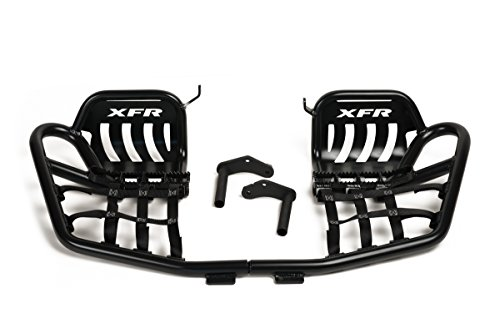 Racing Pro Peg Nerf Bars - XFR Pro-Series II Foot Peg Nerf Bars W Heel Guards Yamaha Banshee 350 (1987-2006) Matte Black