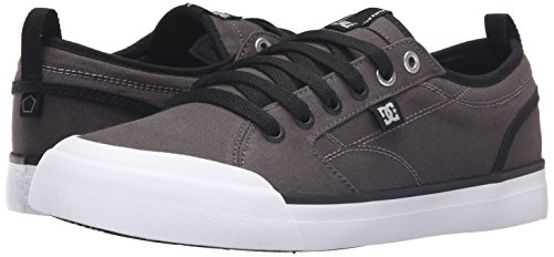 DC Men's Evan Smith TX Skate Shoe, Grey/Black, 10 M US