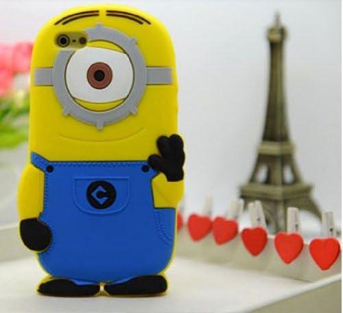 3d Bleu Matière en silicone Moi Jaune Minion téléphone Coque pour ...