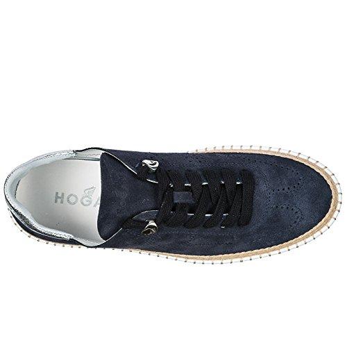 en Femme Sneakers Hogan Chaussures r260 Daim blu Baskets RqaxPgwI