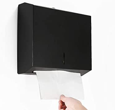 Amazon Com Besy Industries C Fold Multifold Paper Towel Dispenser Wall Mounted Stainless Steel Tissue Dispenser Commercial Paper Hand Towel Holder For Office Bathroom Kitchen Matte Black Finish Office Products