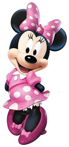 (RoomMates Minnie Bow-Tique Peel and Stick Giant Wall Decal )