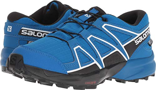 Salomon Speedcross CSWP J Trail Running Shoe, Indigo Bunting/Sky Diver/White, 4 Child US by Salomon