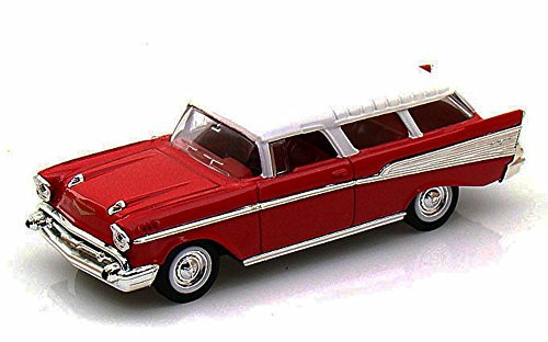 1957 Chevrolet Nomad, Red - Yatming 94203 - 1/43 Scale Diecast Model Toy (43 Scale Replica Model)