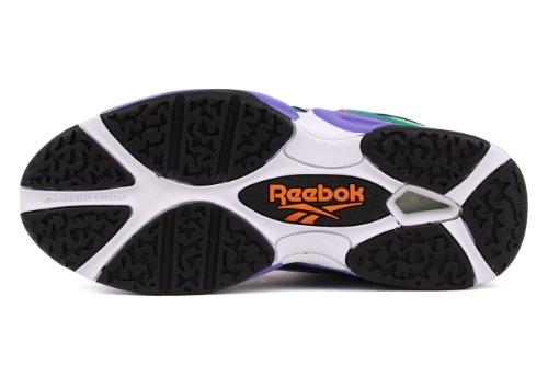 Reebok Kids Kamikaza Scarpe Da Basket Prpl / Orng / Teal / Wht / Blk