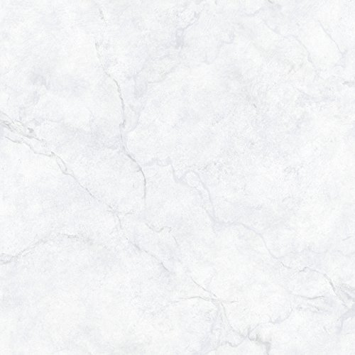Brewster Home Fashions NuWallpaper Carrara Marble Peel and Stick Wallpaper