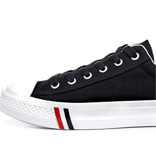 di casual bordo 44 tendenza da scarpe estate WangKuanHome tela tela selvatici Scarpe scarpe Blue Black da traspirante uomo Color di uomo scarpe Size wxwf6AY7