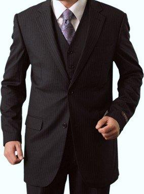 Elegant Men's Two button Three piece Strip Suit