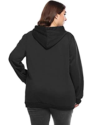 Zeagoo Womens Plus Size Hoodies Fashion Sweatshirts Active Pullover Hoodie Sweatshirt Blouse