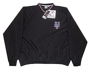 Amazon.com : New York Mets MLB Mens Black Windbreaker Pullover ...