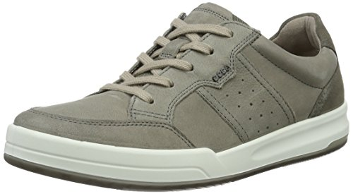 ECCO Men's Jack Tie Fashion Sneaker, Moon Rock/Warm Grey, 41 EU/7-7.5 M US