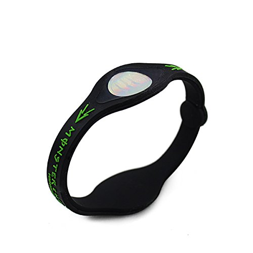 HJ® Hologramm Energy Armband Hologramm Sport Balance Wellness Schwarz