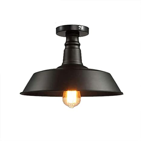 Amazon.com: Lámpara de techo industrial de hierro forjado ...