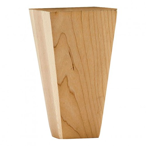 Tapered Bun Feet (Cabinet Furniture Leg Shaker Tapered Bun Foot 2-1/4