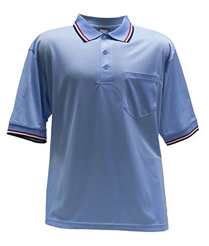 Dalco Athletic Men's Short Sleeve Umpire Shirt XXX-Large Light Blue RWN Trim (Light Blue Umpire Shirt)