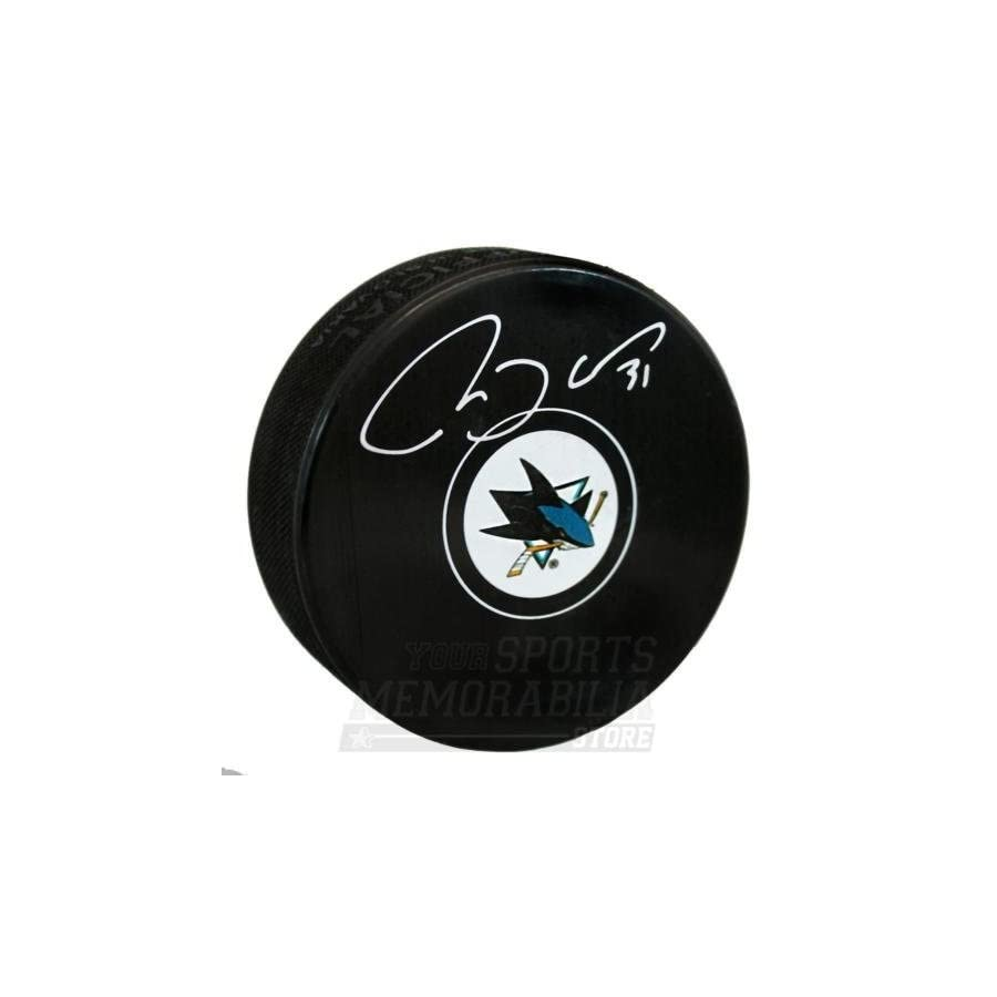 Martin Jones San Jose Sharks Signed Autographed Sharks Hockey Puck