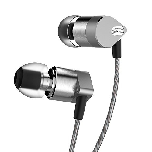 IAXSEE SD-08 In Ear Headphones with Microphone Metal Noise Isolating Earphones Earbuds (08 Bass)