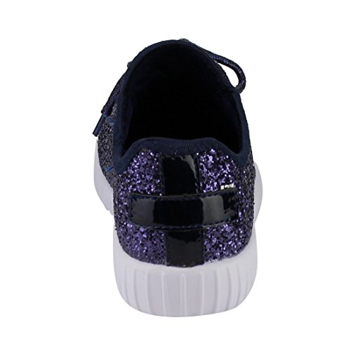 Glitter Sneakers For Shoes Women Fashion Sneakers Link Forever Remy Women's Navy Sparkly 18 0WwTI