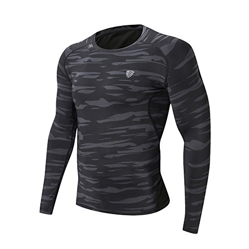 Realdo Clearance Sale,Mens Camouflage Fitness Sportwear Gym Running Yoga Athletic Shirt Top Blouse