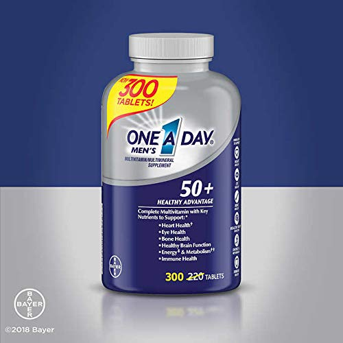 (One A Day Expect More Men's 50+ Multivitamin, 300 Tablets)