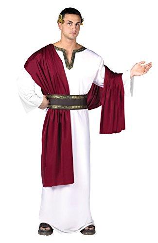 Roman Emperor Costumes (UHC Men's Roman Emperor Caesar Robe Deluxe Outfit Halloween Fancy Costume, OS)