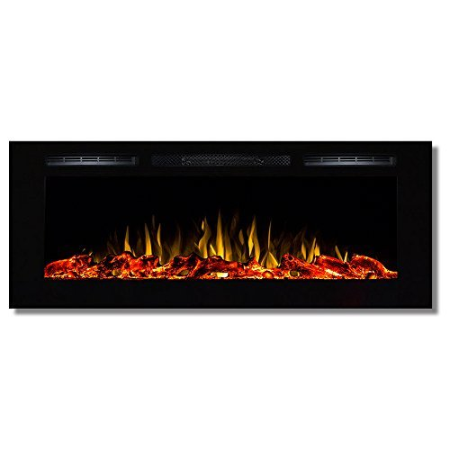 Regal Flame Fusion 50'' Log Built-in Ventless Recessed Wall Mounted Electric Fireplace Better than Wood Fireplaces, Gas Logs, Inserts, Log Sets, Gas, Space Heaters, Propane