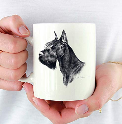 - Giant Schnauzer Custom 11oz Mug With Dog Art Featuring Watercolor Painting by Artist DJ Rogers