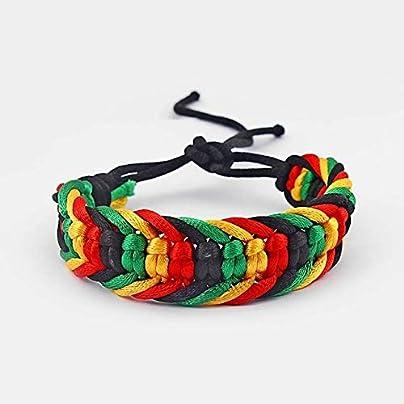 ZUOZUO Leather Wristband Friendship Bracelet Wristband Cotton Silk Reggae Teeth Adjustable Estimated Price £17.99 -