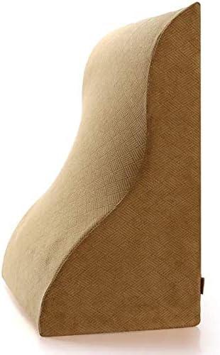 Adecuado para el cuidado de las cuatro estaciones del Cervic Cama de espuma de memoria almohadilla de la cuña, Triángulo almohada for dormir y de lectura, reduce el dolor de espalda y mejora la circul