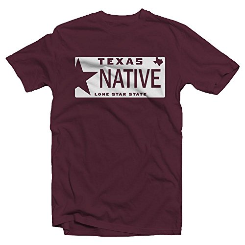 Texas State Pride Native Home License Plate Adult Soft Style Unisex T (Graduation License Plates)