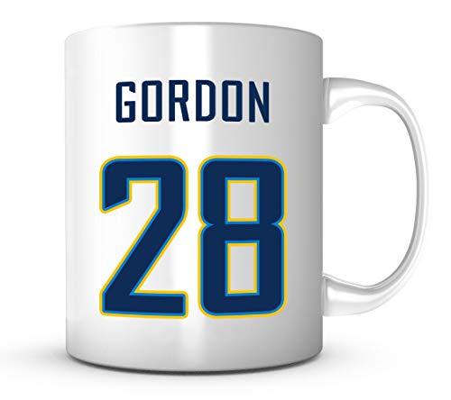 Melvin Gordon Mug - Jersey Number Football Coffee Cup