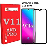 FASHIONISTA Full Glue VIVO V11 PRO Full Coverage 5D Tempered Glass, Full Edge-to-Edge 5D Screen Protector -Black (Pack of 1)