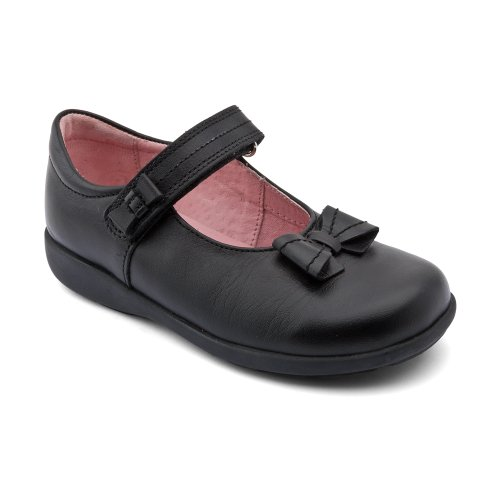 Start-Rite Mädchen Baby Schuhe Patent Viola G schwarz Schwarzes Leder
