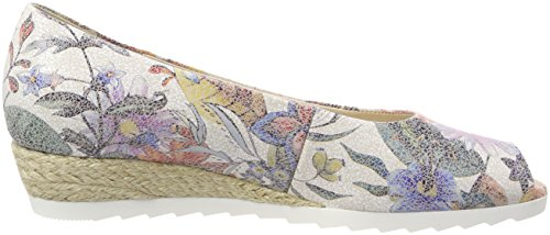 Gabor Roseford Femmes Peep Toe Wedges Multicolor (jute Multicolore)