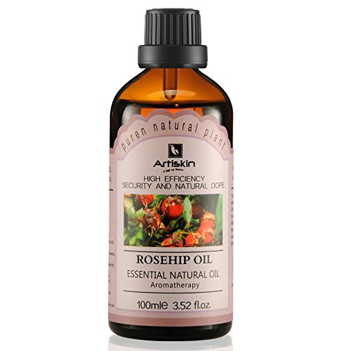 Organic 100% Pure Cold Pressed Unrefined Skin Whitening Natural Rosehip Oil, 3.52 oz