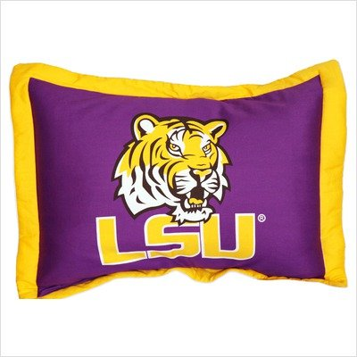 College Covers LSU Tigers Printed Pillow Sham