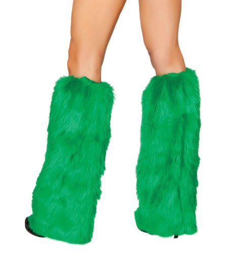 Roma Costume Faux Fur Boot Covers, Hunter Green, One Size (Sexy Hunter Costume)