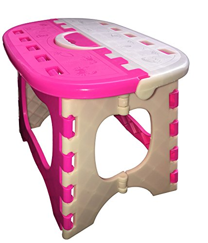 Ultraguards Super Strong Foldable Step Stool for Adults and Kids (Pink)